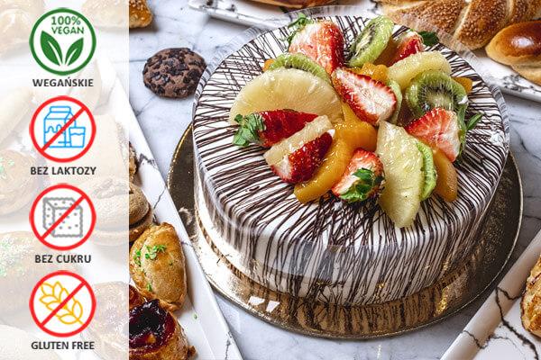 Ciasta Wegańskie, bez laktozy, bez glutenu, bez cukru